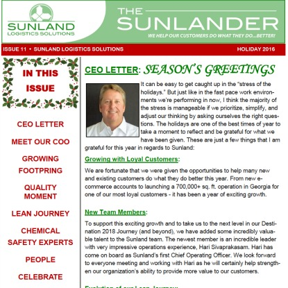 Seasons Greetings   Sunland Logistics Solutions